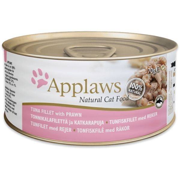 Applaws Cat Tuna Fillet With Prawn Tin