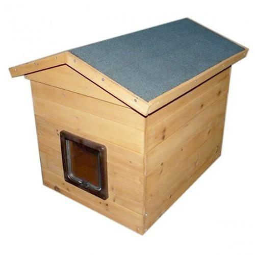 Wooden Cat Kennel With Flap