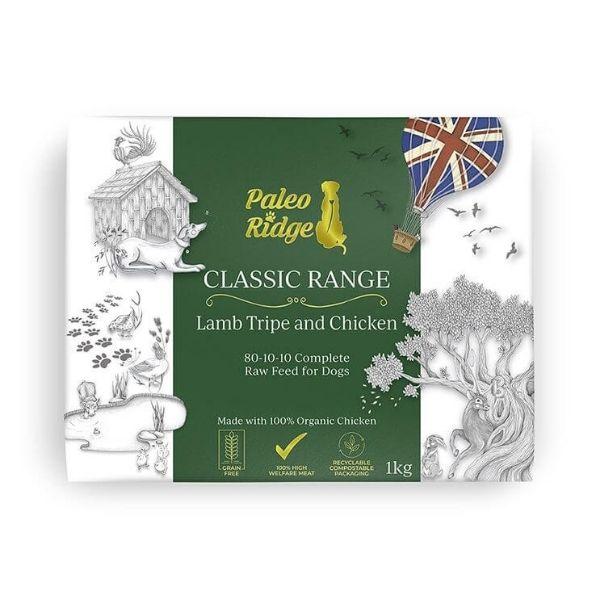 Paleo Ridge Lamb Tripe & Chicken Complete Raw Dog Food from The Pet Parlour Dublin