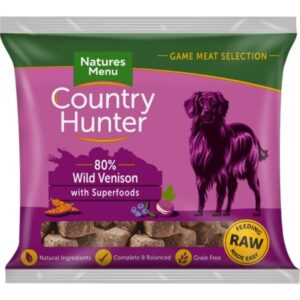 Country Hunter Raw Venison Nuggets 1kg The Pet Parlour Dublin