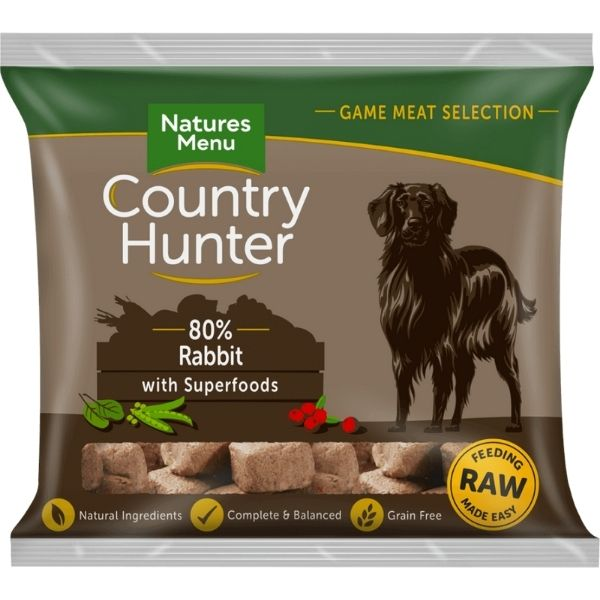 Country Hunter Raw Rabbit Nuggets 1kg The Pet Parlour Dublin