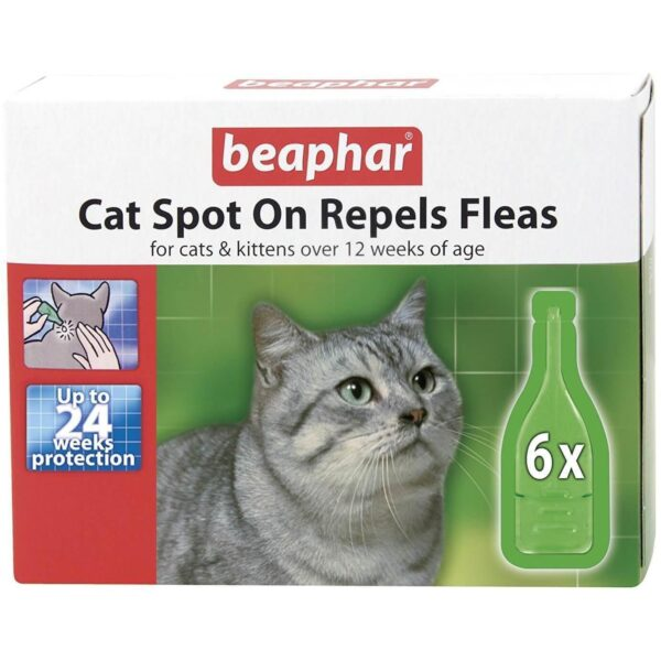 Cat Spot On Repels Fleas - 24 weeks protection