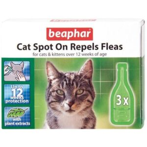 Cat Spot On Repels Fleas - 12 weeks protection