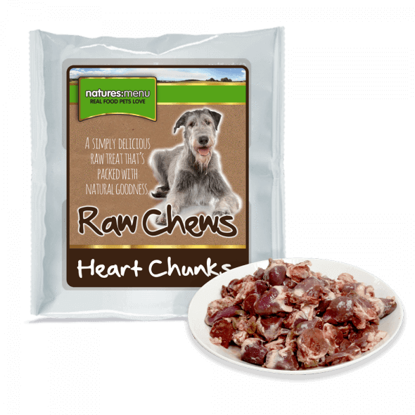 Raw Poultry Heart Chunks For Dogs