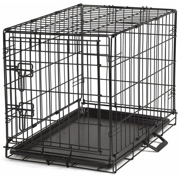 Dog Cottage Crate - Black Wire