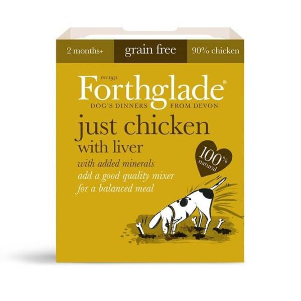 Forthglade Just 90% Chicken With Liver Natural Wet Dog Food