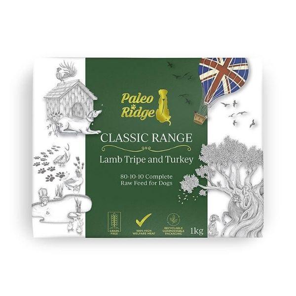 Paleo Ridge Lamb Tripe & Turkey Complete Raw Dog Food from The Pet Parlour Dublin