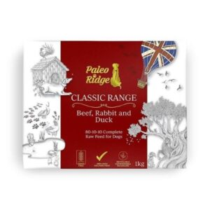 Paleo Ridge Classic Beef Rabbit & Duck Complete Raw Dog Food from The Pet Parlour Dublin