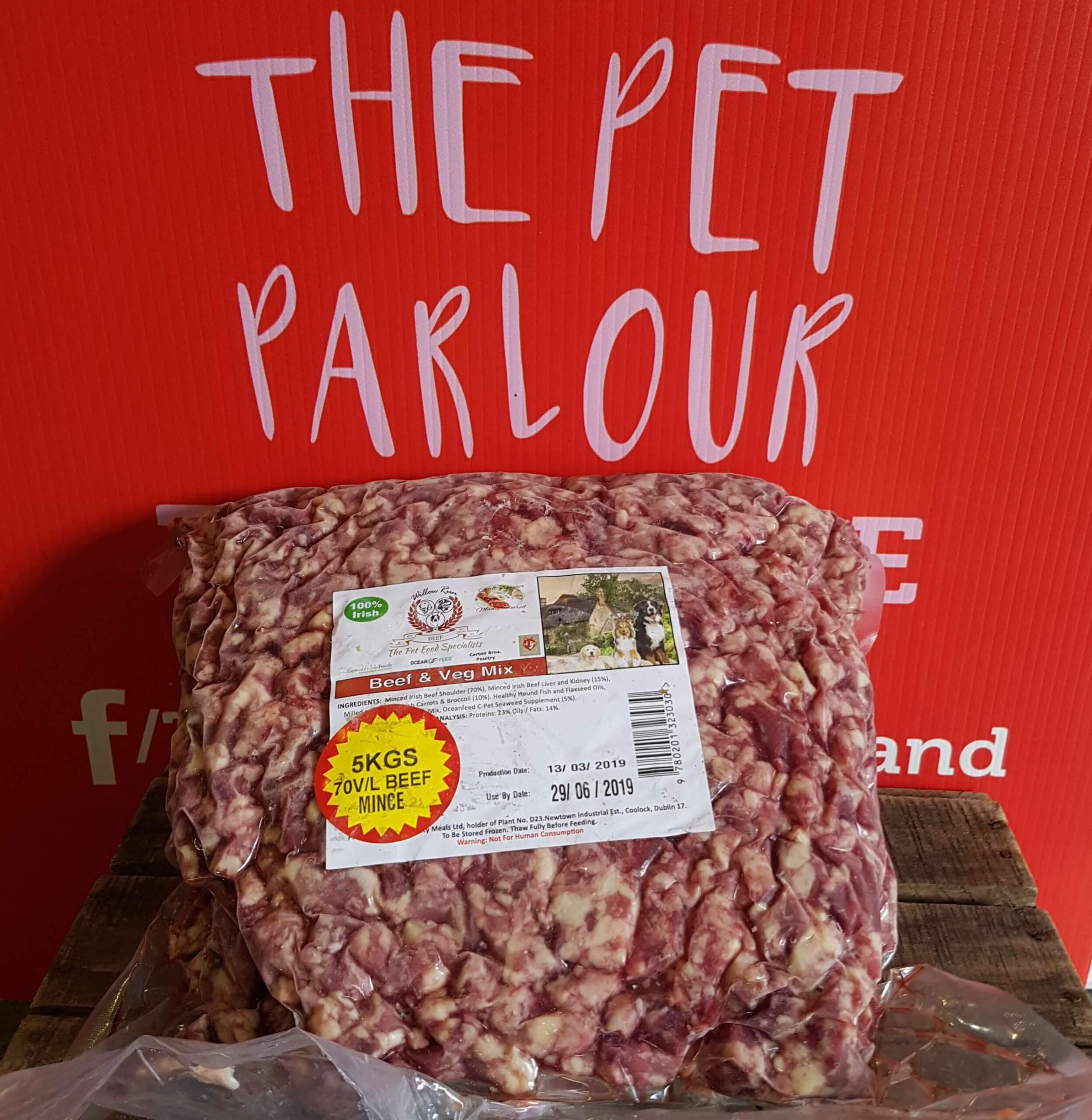 Approved Raw Plain Beef Mince 5kg