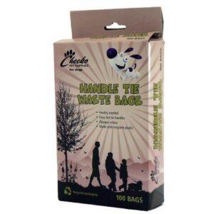 Cheeko Poop Waste Bag Tie Handles X 100