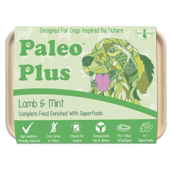 Paleo Plus - Lamb & Mint 500g Raw Dog Food, Paleo Ridge, The Pet Parlour Terenure