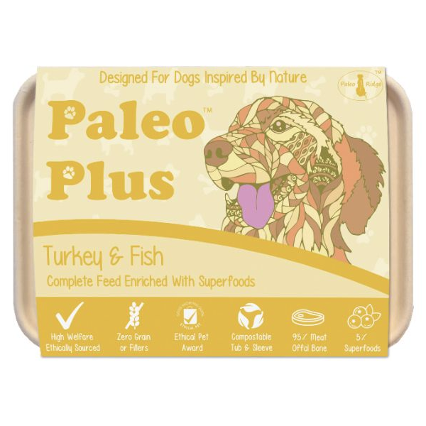 Paleo Plus - Turkey & Fish 500g, Raw Dog Food, Paleo Ridge, The Pet Parlour Terenure