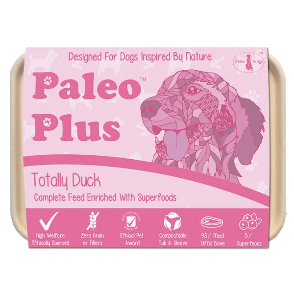 Paleo Plus - Totally Duck 500g, Raw Dog Food, Paleo Ridge, The Pet Parlour Terenure