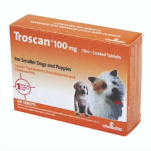 Troscan 100 mg film coated tablet for small Dogs & Puppies The Pet Parlour Terenure Dublin