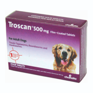 Troscan 500 mg film coated tablets for adult Dogs The Pet Parlour Terenure Dublin