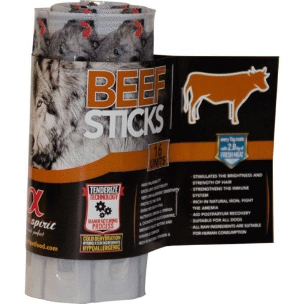 Alpha Spirit 16 Stick Beef Roll Dog Treats From The Pet Parlour Dublin