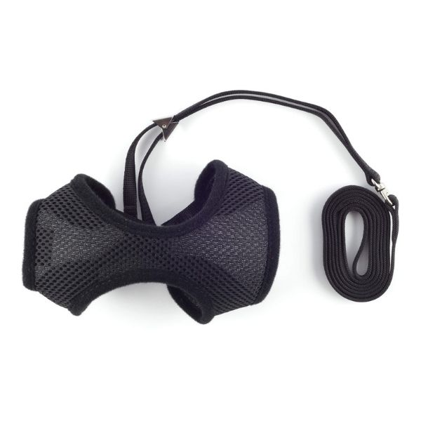 Ancol Cat Harness With Lead Black from The Pet Parlour Dublin