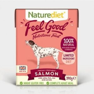 Naturediet Feel Good Salmon Wet Dog Food The Pet Parlour Dublin