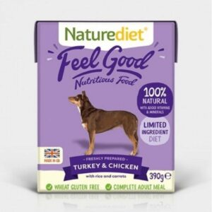 Naturediet Feel Good Turkey and Chicken Wet Dog Food 400g The Pet Parlour Dublin