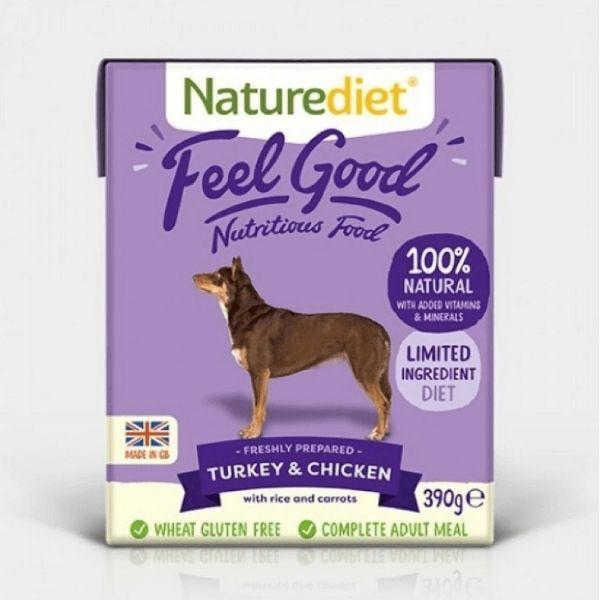 Naturediet Feel Good Turkey and Chicken Wet Dog Food 400g The Pet Parlour Dublin