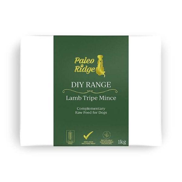 Paleo Ridge Lamb Tripe Mince Raw Dog Food from The Pet Parlour Dublin