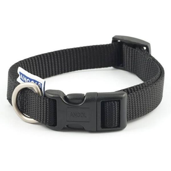 Ancol Dog Collar Black the pet parlour dublin
