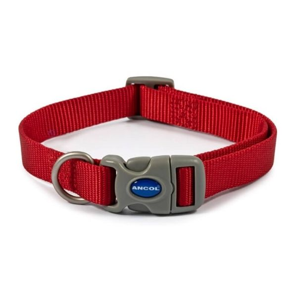 Ancol Dog Collar Red the pet parlour dublin