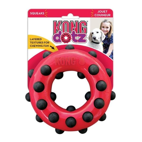 Kong Dotz Circle Dog Toy From The Pet Parlour Dublin