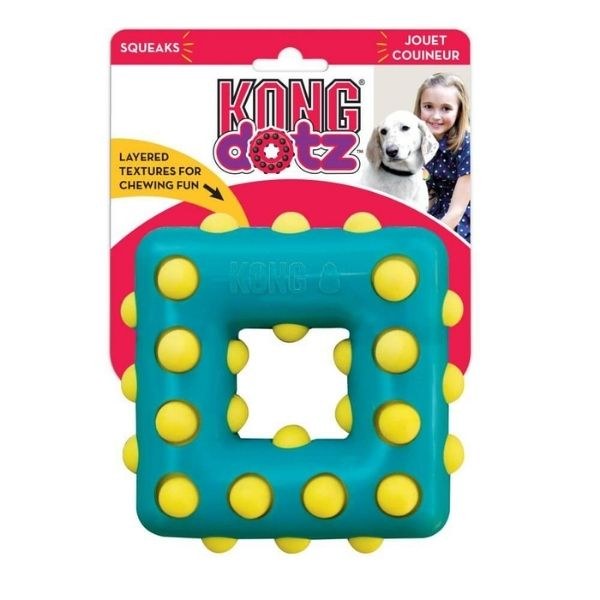 Kong Dotz Square Dog Toy From The Pet Parlour Dublin