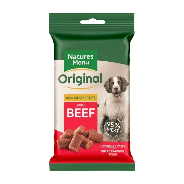 NATURES MENU Beef training treats FOR DOGS.