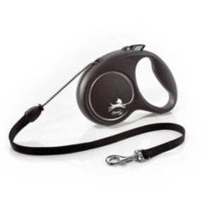 Flexi Dog Lead Black Design From The Pet Parlour Dublin