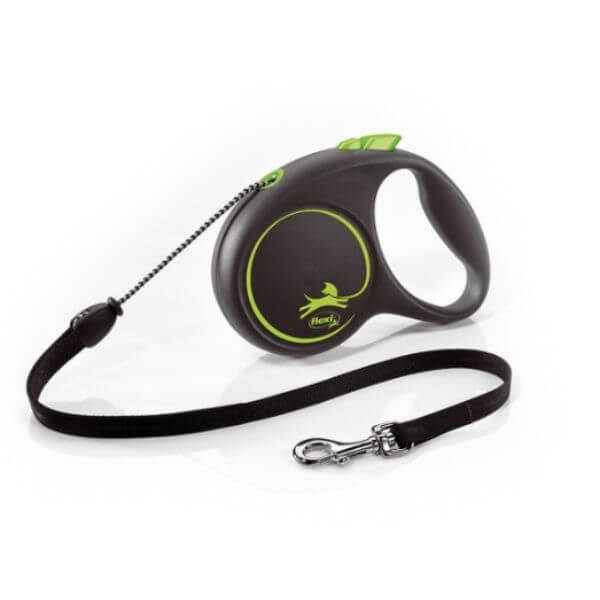 Flexi Dog Lead Black Design From The Pet Parlour Dublin