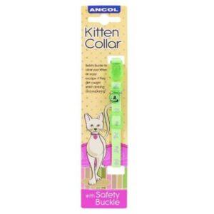Ancol Kitten Green Hi-Viz Collar Pet Parlour Dublin