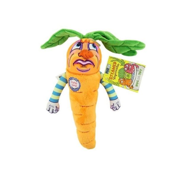 Cranky Carrot Plush Dog Toy from the Pet Parlour Ireland