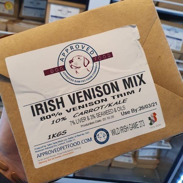 Raw Dog Food Venison Pet Parlour Dublin