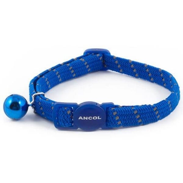 Ancol Reflective Softweave Cat Collar Blue From The Pet Parlour Dublin