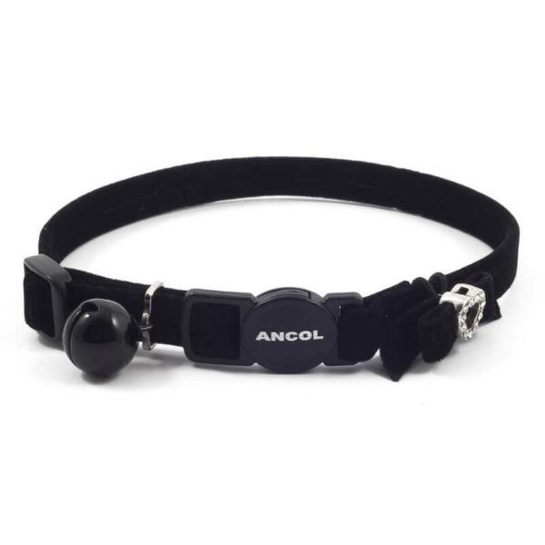 Ancol Black Velvet Heart Cat Collar Pet Parlour Dublin
