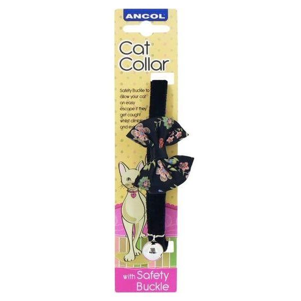 Vintage Bow Black Cat Collar Pet Parlour Dublin