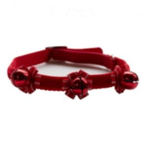 Cat Collar With Bells For Christmas From The Pet Parlour Dublin
