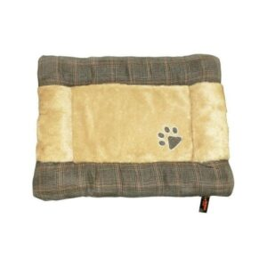 Republic of Pets Dizzi Brown Tartan Padded Cushion The Pet Parlour Dublin