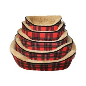 Republic of Pet Red Tartan Dog Bed The Pet Parlour Dublin