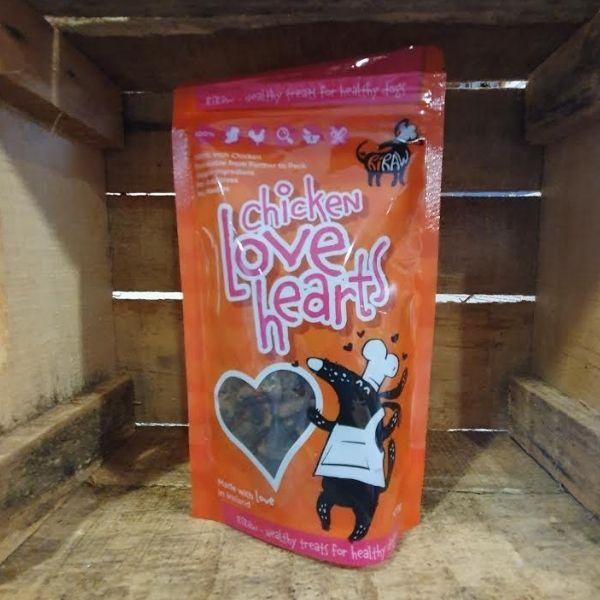 RiRaw Dried Chicken Hearts Dog Treats The Pet Parlour Dublin
