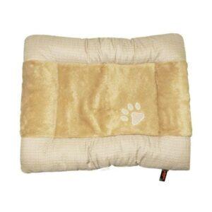 Republic of Pets Emotion Beige Tartan Padded Cushion The Pet Parlour Dublin