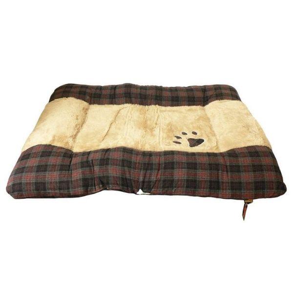 Republic of Pets Molby Grey Tartan Padded Cushion The Pet Parlour Dublin