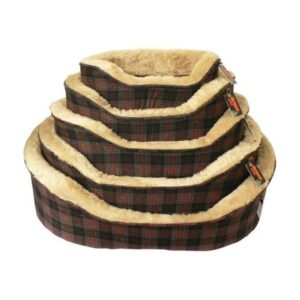 Molby Grey Tartan Dogs Bed The Pet Parlour Dublin