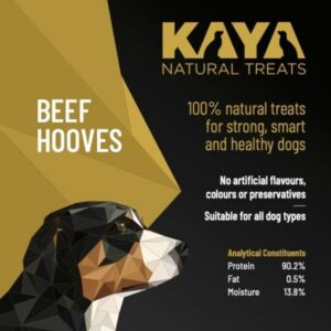 Kaya Natural Treats Beef Hooves from The Pet Parlour Dublin