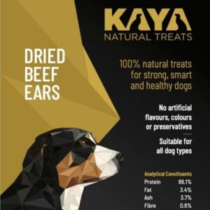 Kaya Natural Treats Beef Ears from The Pet Parlour Dublin