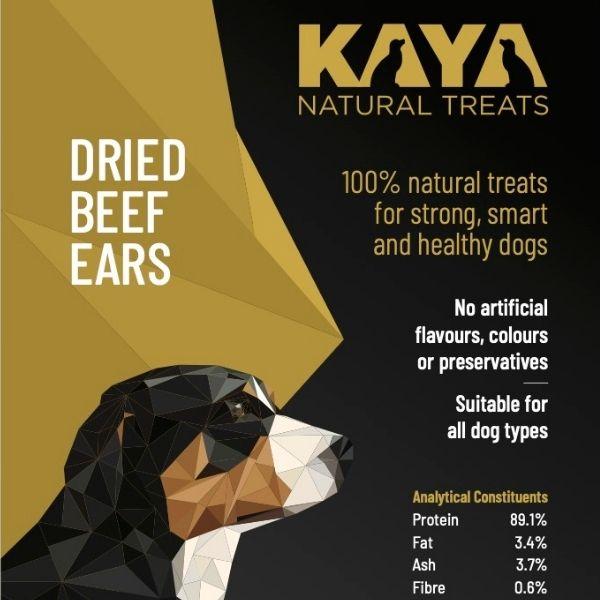 Kaya Natural Treats Beef Ears from The Pet Parlour Dublin
