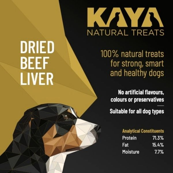 Kaya Natural Treats Dried Beef Liver from The Pet Parlour Dublin