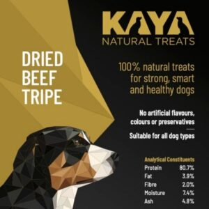 Kaya Natural Treats Dried Beef Tripe from The Pet Parlour Dublin